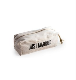 just married cosmetic bag