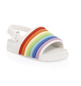 mini melissa mini beach slide sandal rainbow