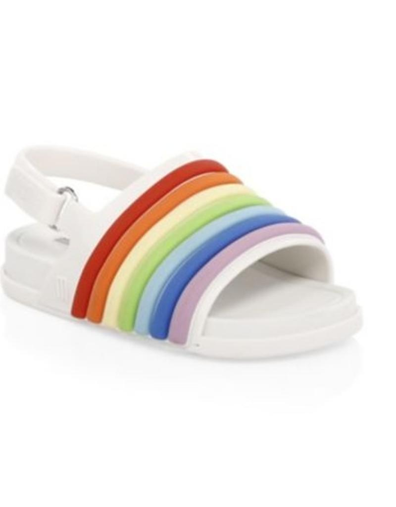 f2a512c27f83 mini melissa mini beach slide sandal rainbow - Stash Apparel and Gifts
