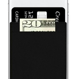 black faux leather phone pocket