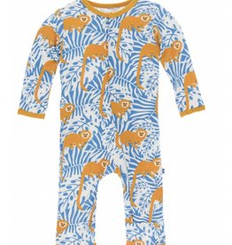 kickee pants tamarin monkey coverall with snaps