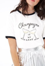 champagne is my game ringer tee FINAL SALE