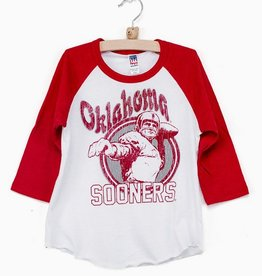 LivyLu ou postcard baseball tee FINAL SALE