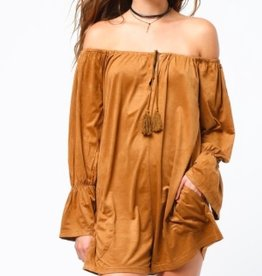 very j camel bell sleeve romper FINAL SALE
