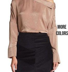 very j asymmetrical blouse FINAL SALE