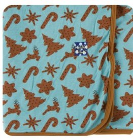 kickee pants Christmas cookies swaddling blanket