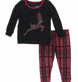 kickee pants Christmas plaid long sleeve pajama set FINAL SALE