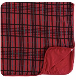 kickee pants Christmas plaid toddler blanket
