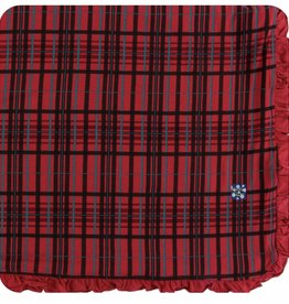 kickee pants Christmas plaid ruffle toddler blanket