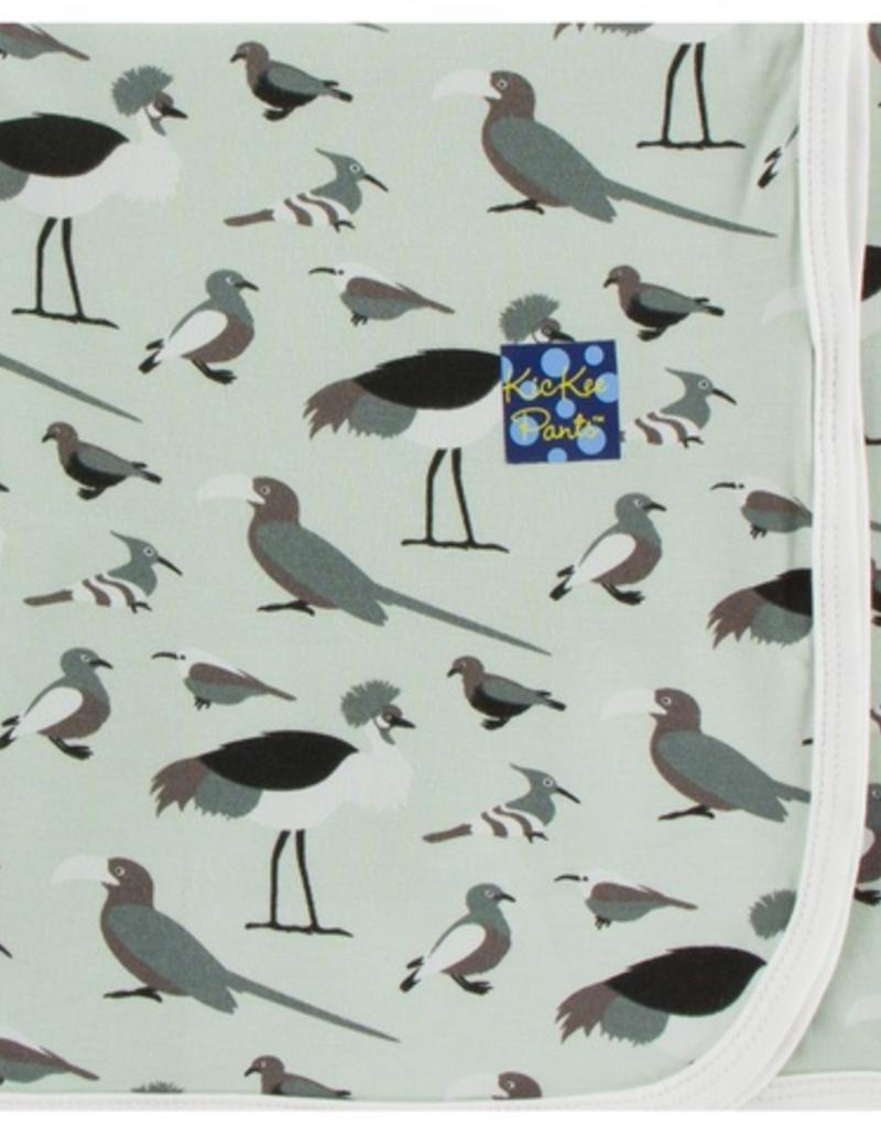kickee pants birds of kenya swaddling blanket