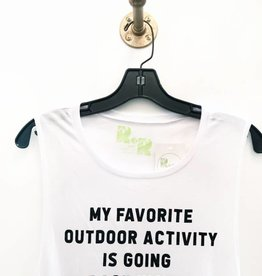 R+R favorite outdoor activity muscle tank FINAL SALE