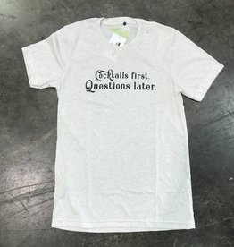 R+R cocktails first, questions later tee