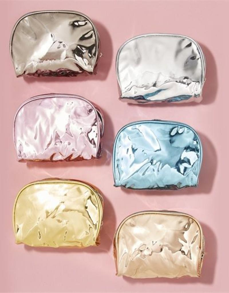 two's company metallic cosmetic case