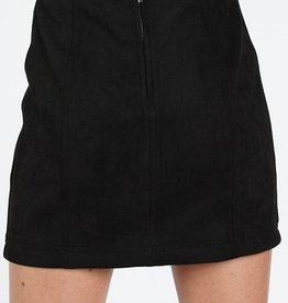 high waisted mini skirt with back zipper