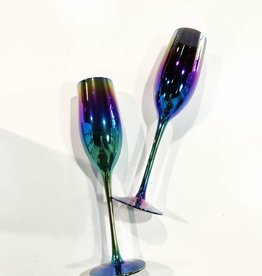 two's company spectrum champagne glasses (set of 2)