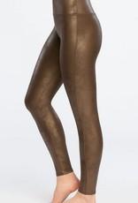 spanx bronze faux leather legging