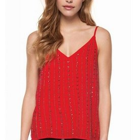 dex vneck beaded tank top