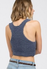 berber fleece racerback cropped tank