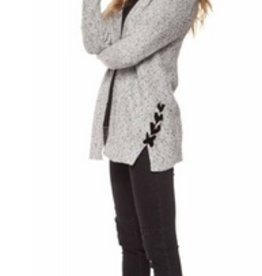 dex open cardigan with side tie FINAL SALE