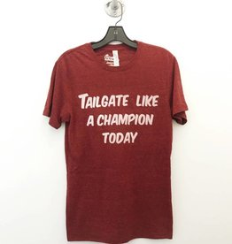 Opolis tailgate like a champion tri crew tee FINAL SALE