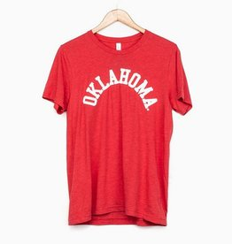 LivyLu red flocked oklahoma tee FINAL SALE