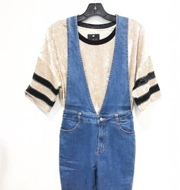 wild honey denim jumpsuit