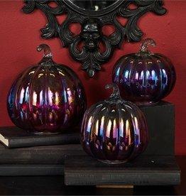 two's company iridescent glass pumpkins FINAL SALE