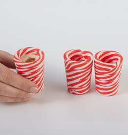 two's company peppermint shot glasses FINAL SALE