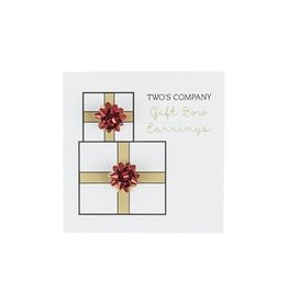 two's company gift bow stud earring FINAL SALE