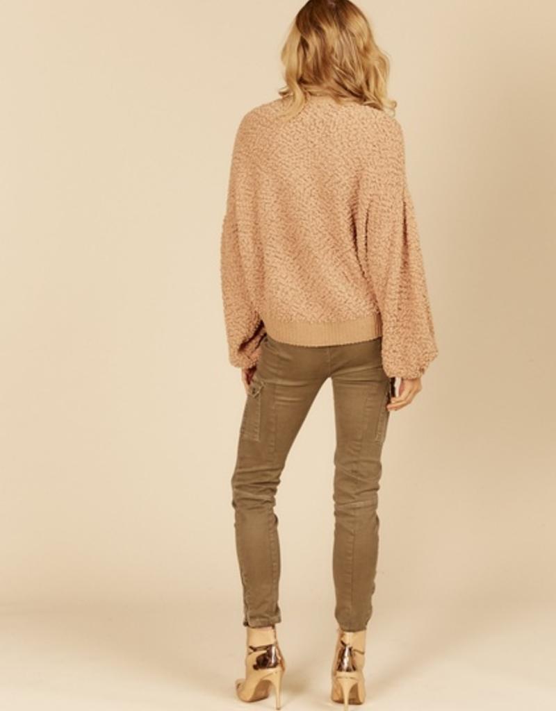 vintage havana knit basic crewneck sweater