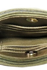 3 compartment crossbody or clutch - gold
