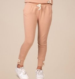 vintage havana terry lace up rib sweatpants