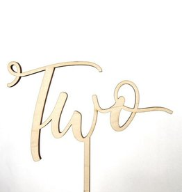 script two cake topper