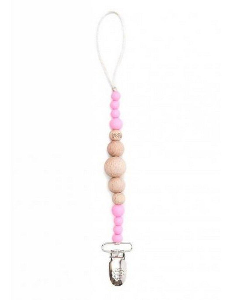 Bella Tunno paris pink pacifier clip