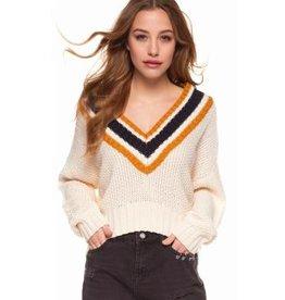 dex varsity crop sweater