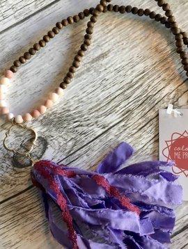 Raw Cotton Tassel Necklace