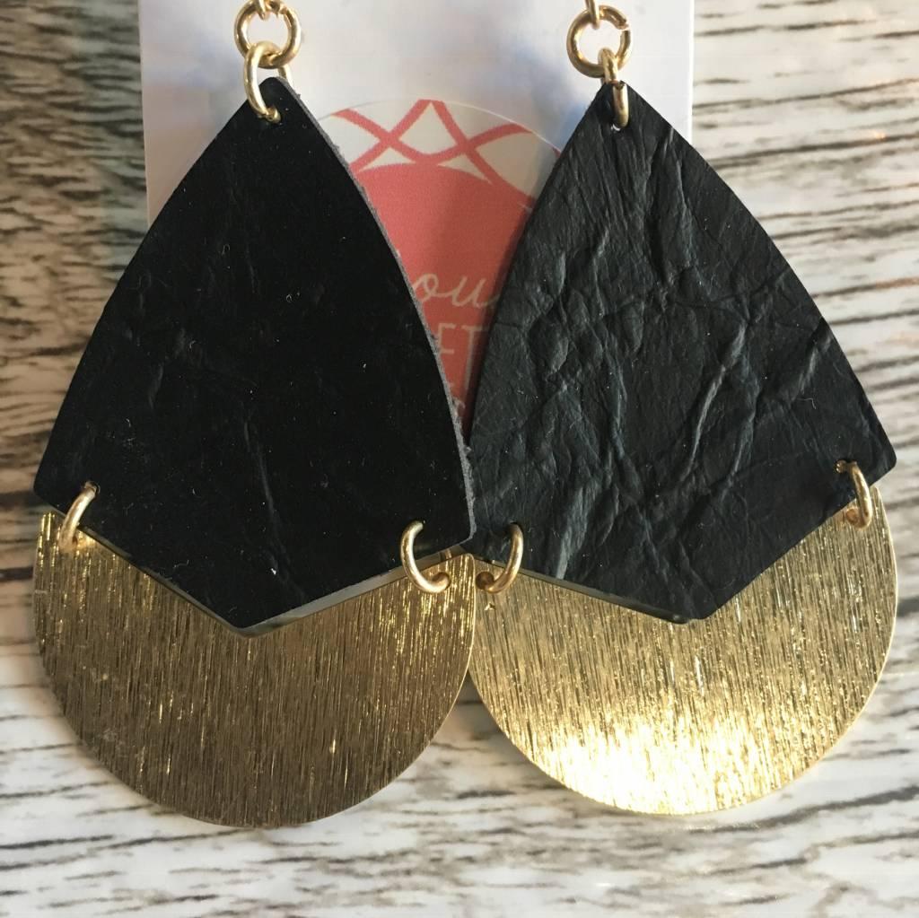 Textured Teardrop Earrings