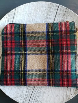 Pulling For Plaid Wristlet