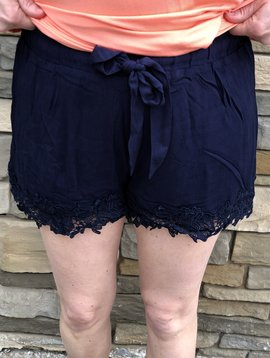 Trim Of Lace Shorts