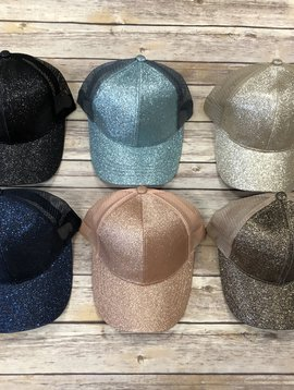 CC Glitter Ponytail Hat