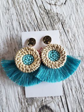 Wicker & Tassel Earrings