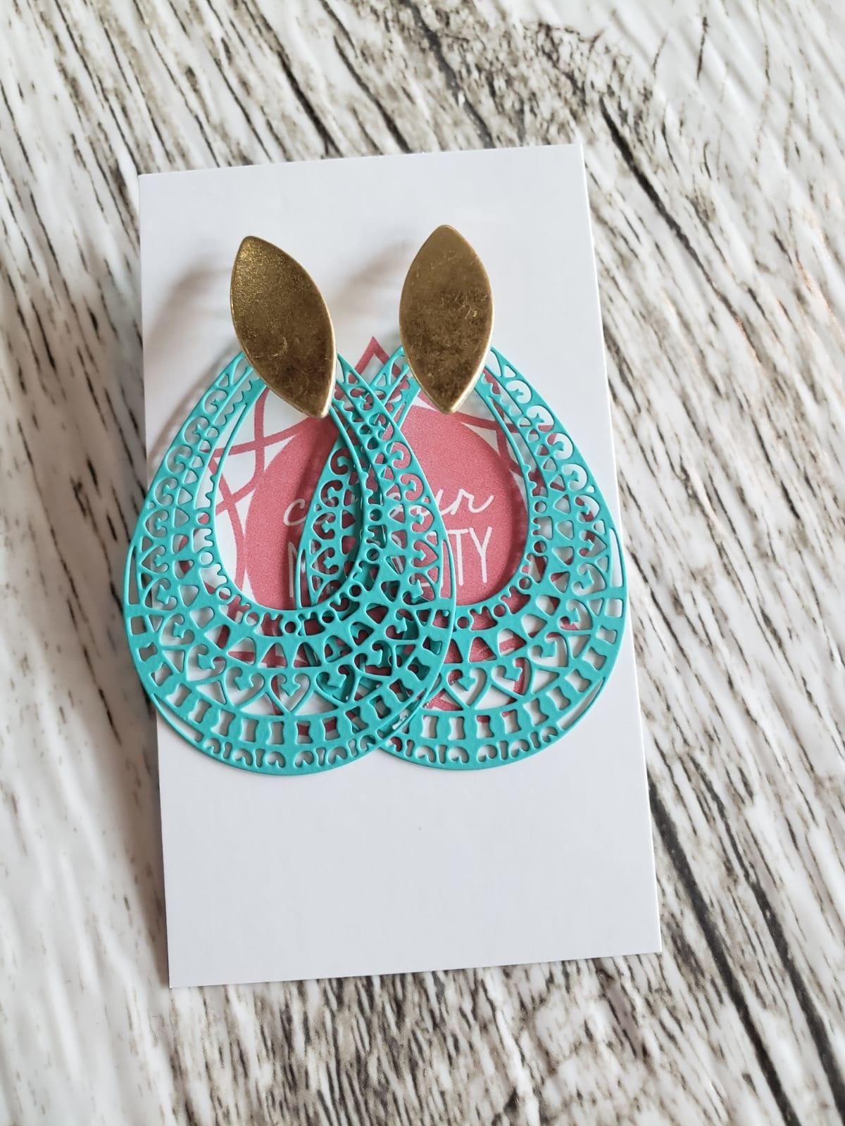 Lattice Teardrop Earrings