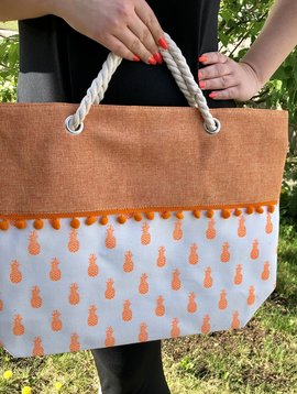 Pineapples & Citrus Oversized Bag