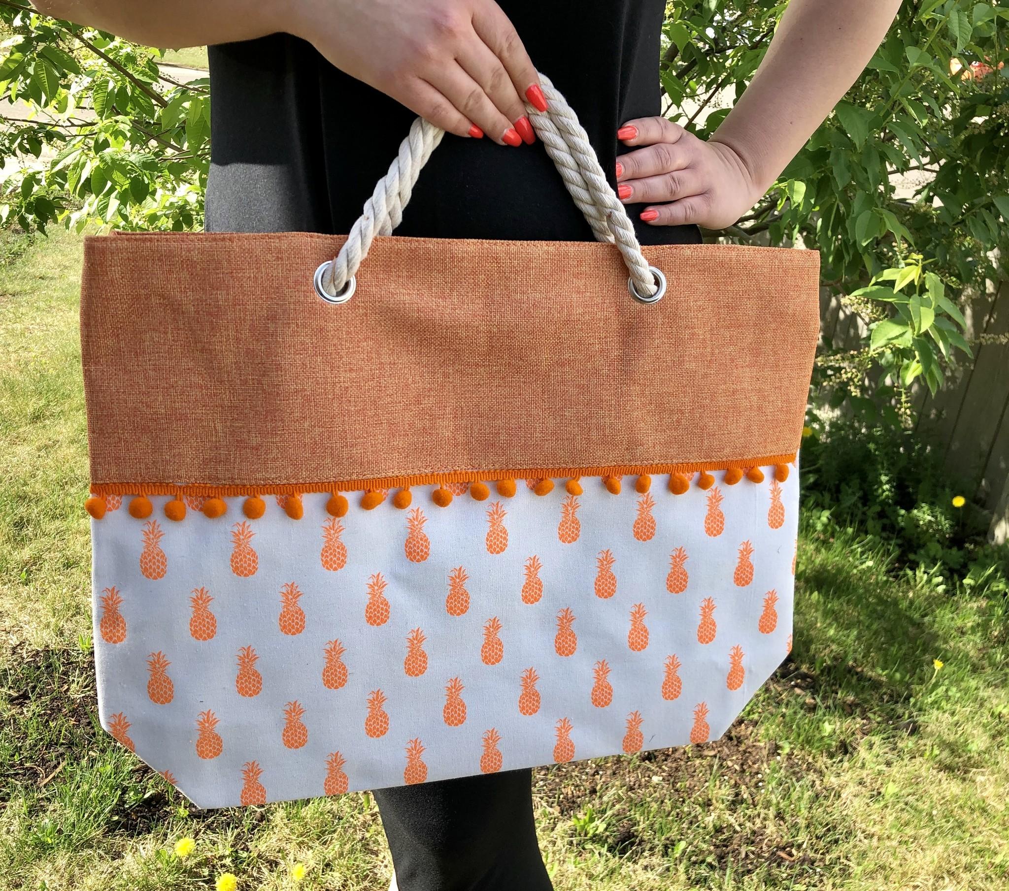 Pineapples & Citrus Oversized Bag