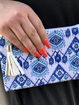 Tribal Mini Zipper Clutch