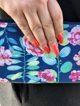 Floral Mini Zipper Clutch