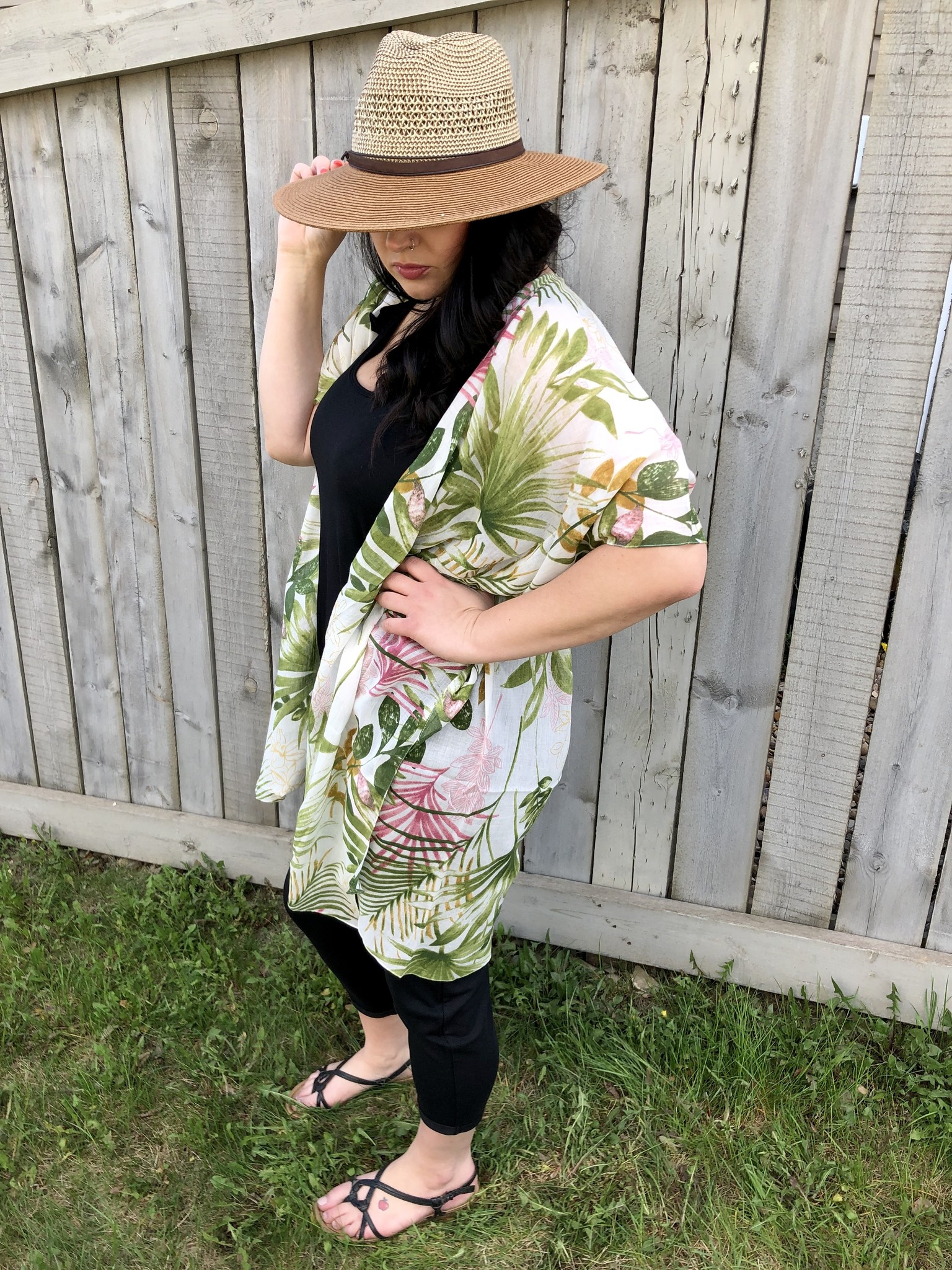 Tropical Leaf Kimono