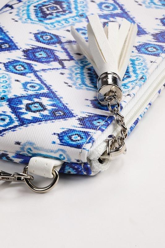 Tribal Mini Zipper Clutch