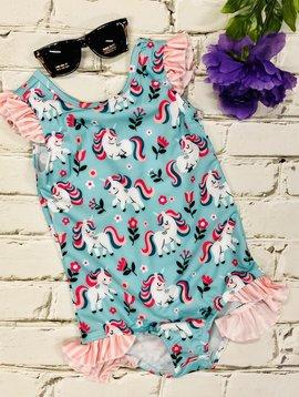 Kids Unicorns Galore Swimsuit