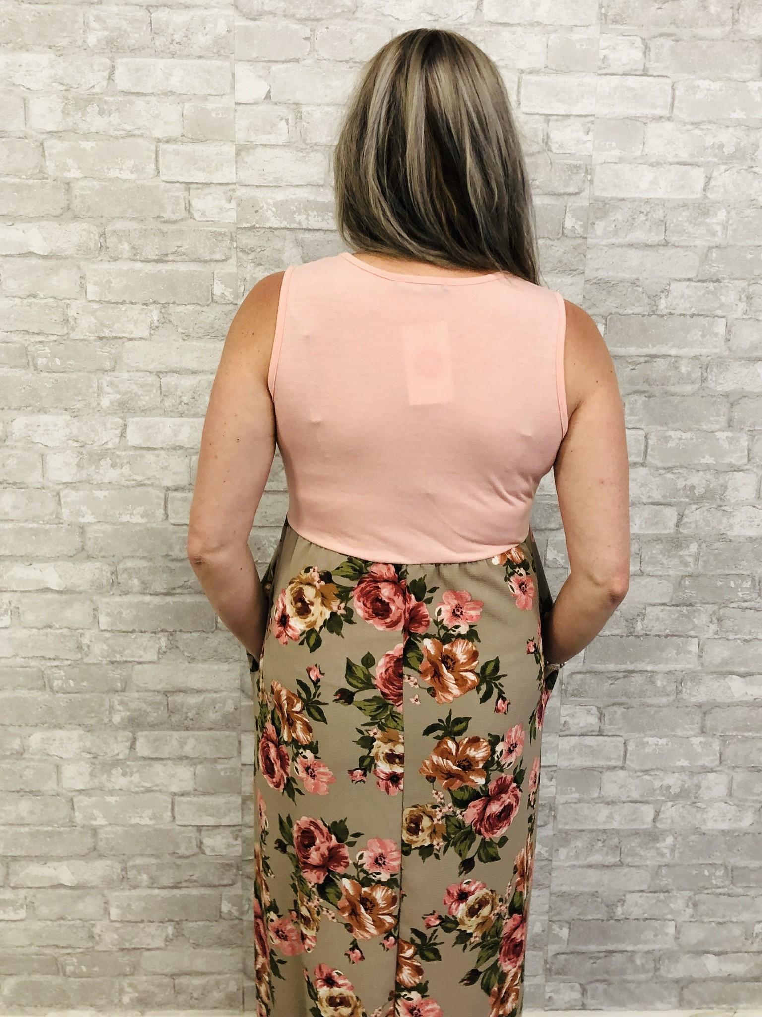 Blushed Floral Maxi